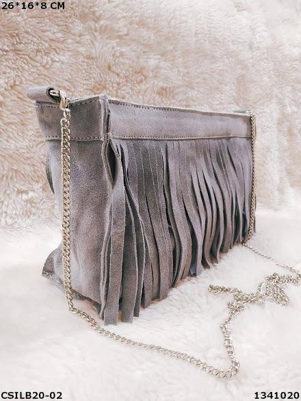 Suede Leather Fringed Shoulder Bag