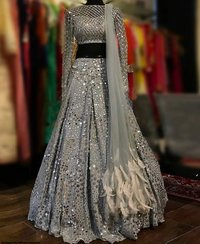 New Designer Grey Lehenga