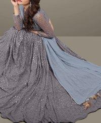 New Designer Grey Lehenga