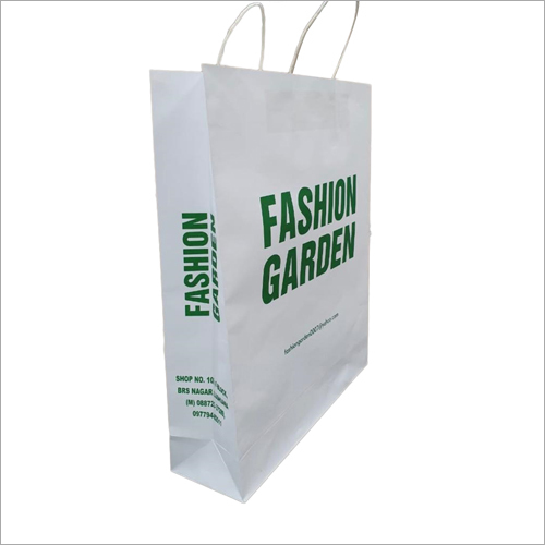 White Printed Paper Bag