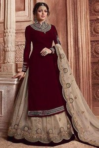 Georgette Gown With Heavy Embroidery