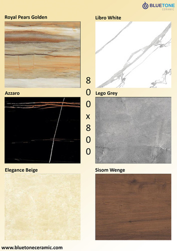 Glazed Polished Porcelain Tiles 800 x 800 MM
