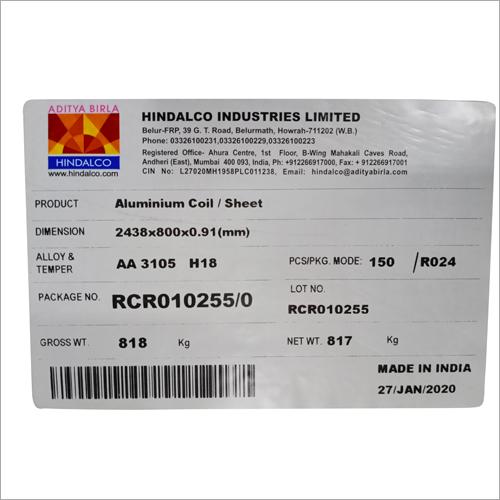 HINDALCO Signage Aluminium Tag