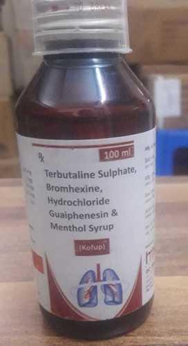 Terbutaline Sulphate, Bromhexine Hydrochliride Guaiphenesin & Mesnthol Syrup.