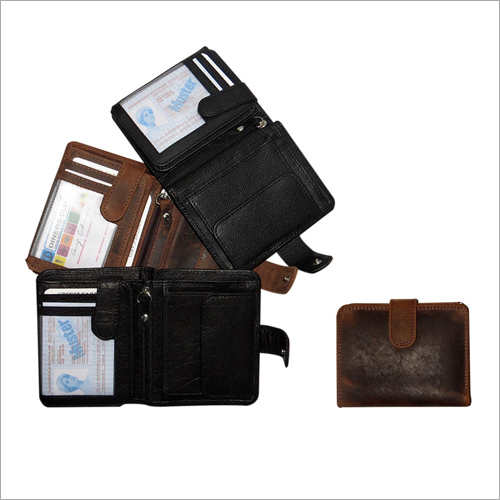 Mens Designer Leather Plain Wallet