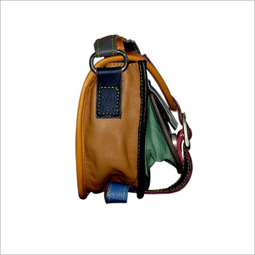 Ladies Leather Sling College Bag
