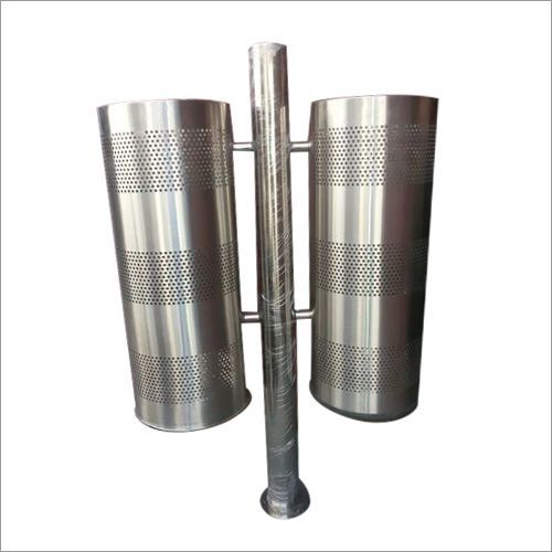 SS DUAL  Perforated DustBin