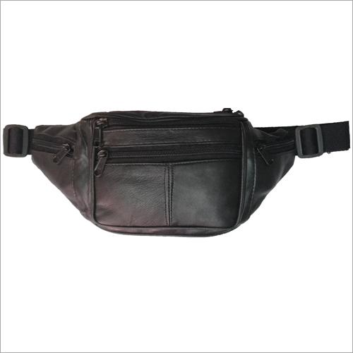 Black Leather Waist Pouch