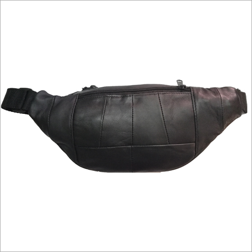 Black Leather Waist Pouch