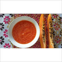 Red papaya puree