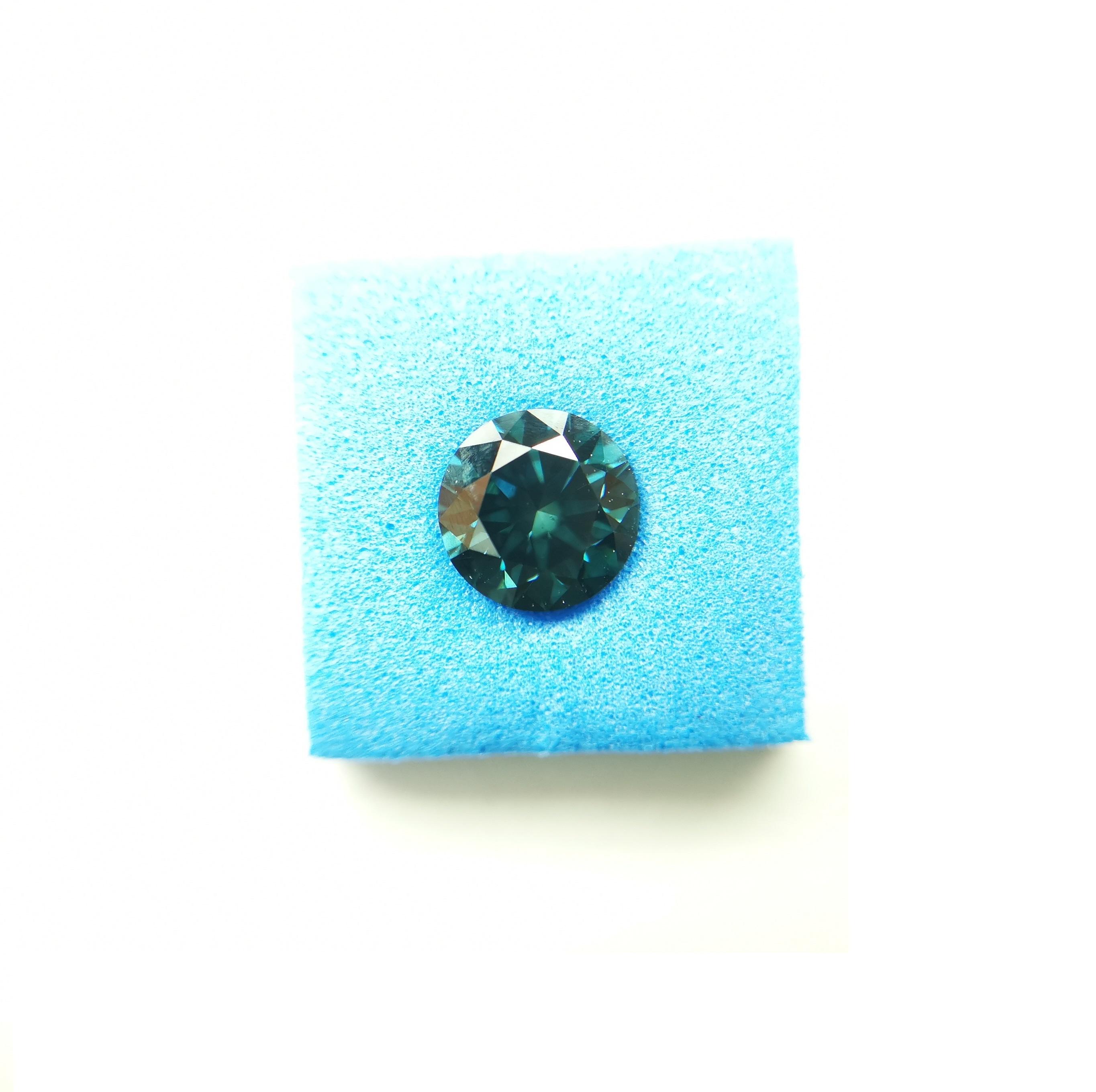 Cvd Diamond 1.3ct  VS1 Blue Round Brilliant Cut  ,Non cert