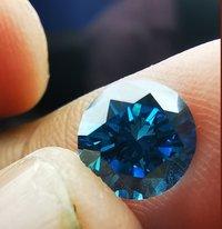 Cvd Diamond 1.214ct VVS2 Blue Round Brilliant Cut