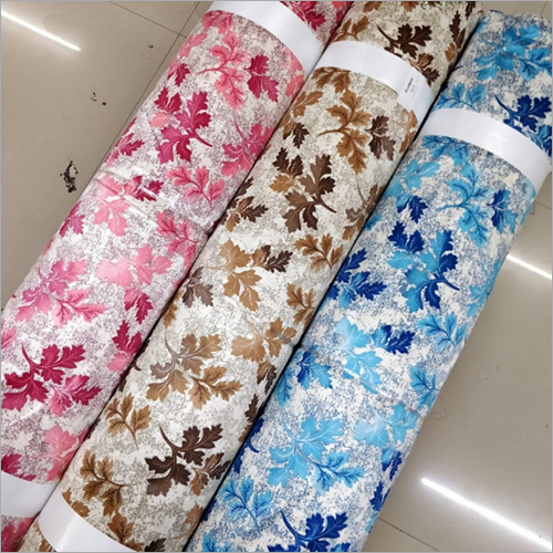 Leaf Printed Curtain Fabric