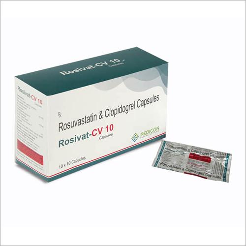 Rosuvastatin 10 mg +Clopidogrel 75 MG
