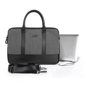 """London Briefcase 15.6"""" Laptop Messenger Bag with Leather Finish"""