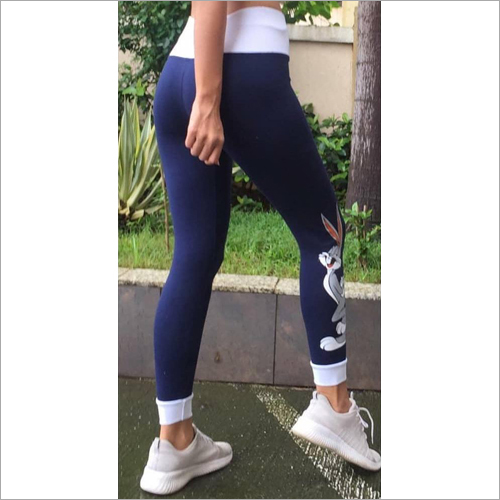 Ladies Blue Printed Jegging