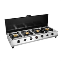 4 Burner Stainless Steel Cooktop With Lid