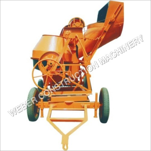 Mobile Concrete Mixer With Hopper
