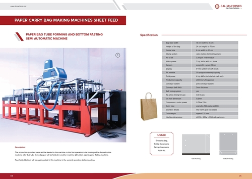 Paper Carry Bag Making Machine Sheet Feed