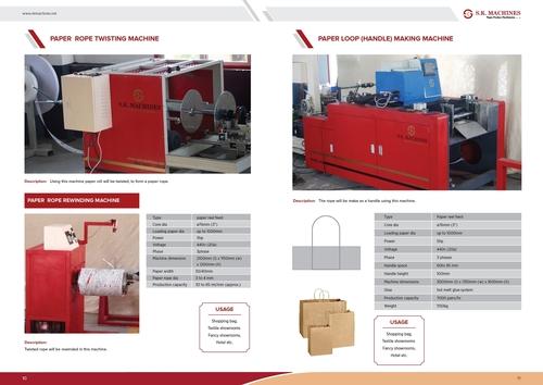 Paper Loop Handle Making Machine