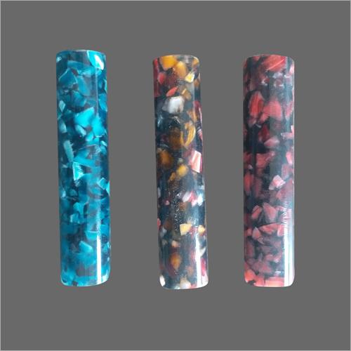 Fluorescent Marble Acrylic Round Rod