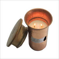 Metal Glass Candle