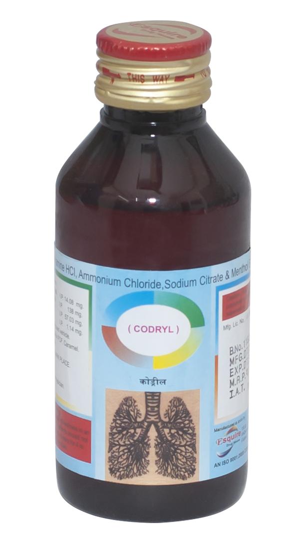 Diphenhydramine Hcl 14.08mg + Ammonium Chloride  138 mg + Sodium Citrate 57.03 mg + menthol 1.14mg / 5ml