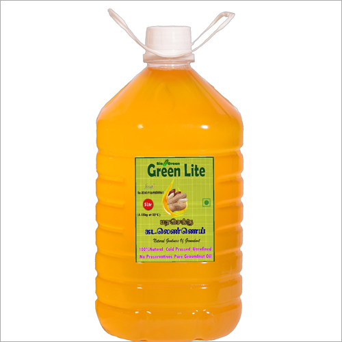 Cold Pressed Groundnut Oil (chekku, Ghani) 5 Ltr.