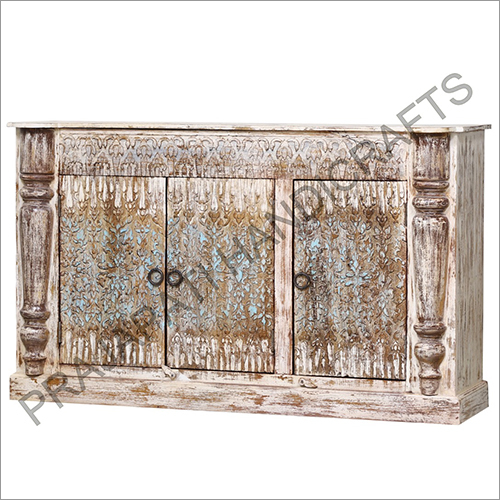 Wooden Three Door Sideboard