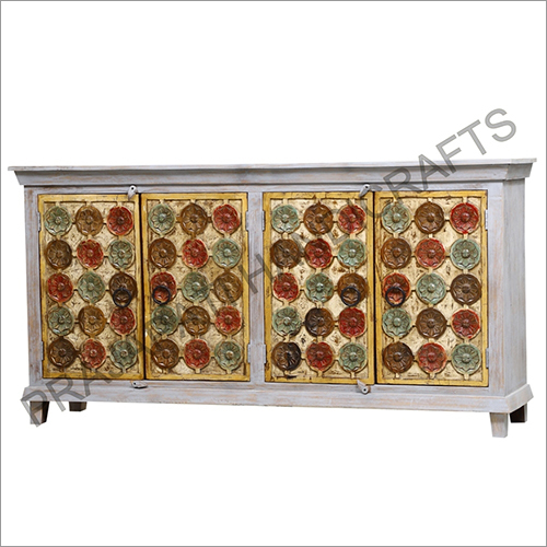 Wooden Four Door Design Sideboard