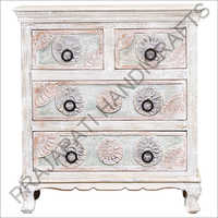 Wooden 97 cm Four Door Chest
