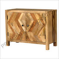 Wooden Two Doors Sideboard