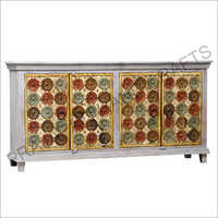 Wooden Four Door Sideboard
