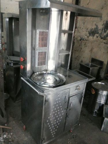 Floor Mounted Double Burner Gas Shawarma Machine