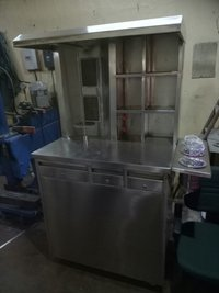 Floor Mounted Double Burner Gas Shawarma Machine