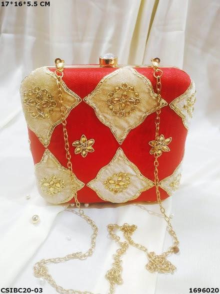 Party wear handmade Box Clutch