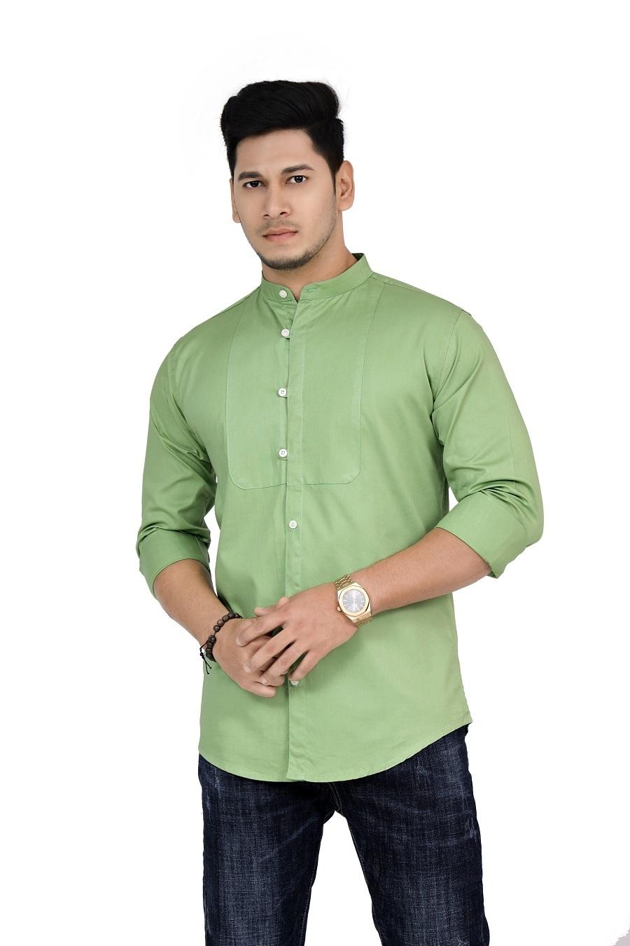 plain pattern shirt