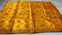 Pure Khadi Silk Saree With All Over Worli Kantha Machine Embroidery
