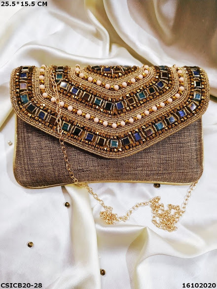 Flap Over Evening Clutch Bag