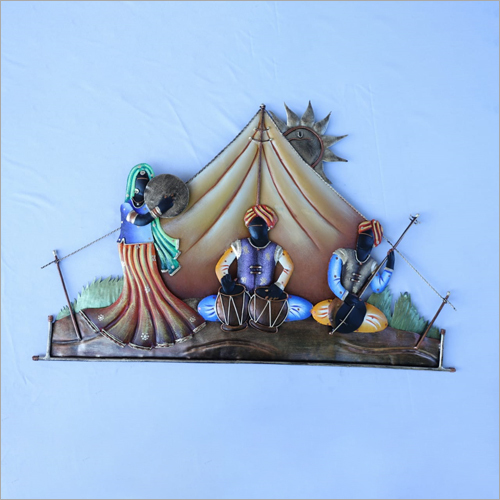 Rajasthani Dancing Wrought Iron Wall Hanging