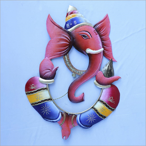 3D Ganesha Metal Wall Hanging