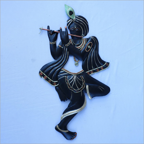 Black Krishna Basuri Wall Hanging