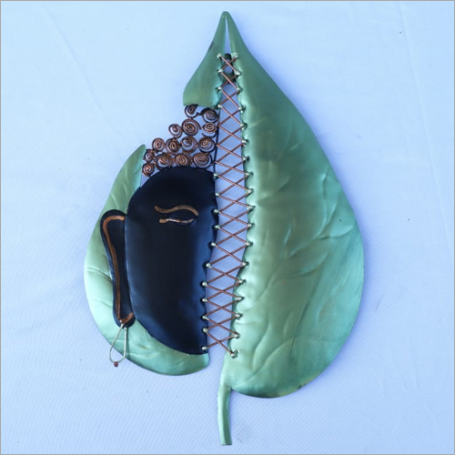 Buddha Leaf Iron Wall Hanging