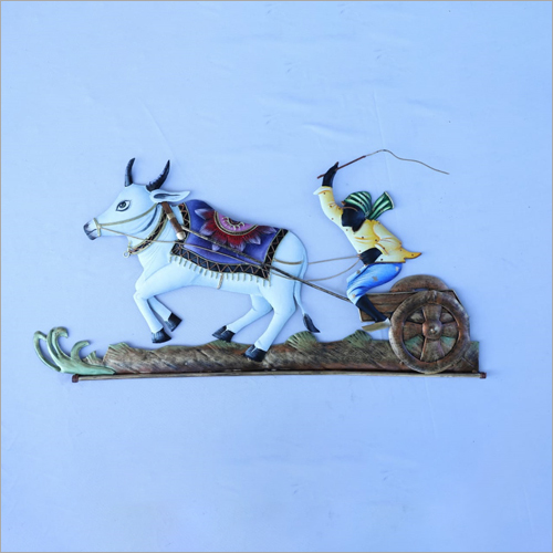 Bullock Cart Metal Wall Hanging