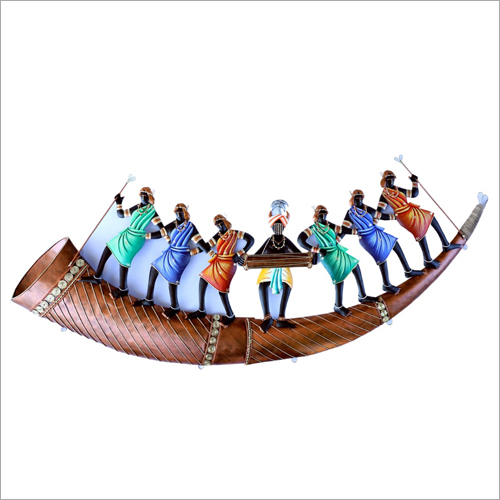 Trumpet 7 Adivasi People Wall Hanging