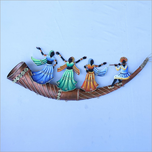 Trumpet 4 Adivasi People Wall Hanging