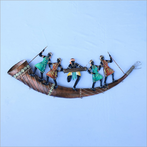 Trumpet 5 Adivasi People Wall Hanging