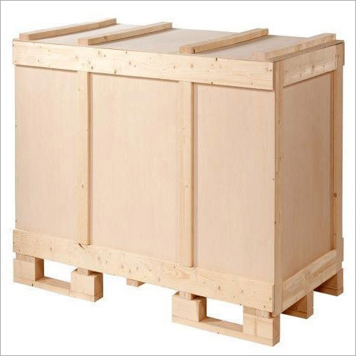 Rectangular Wooden Packing Box