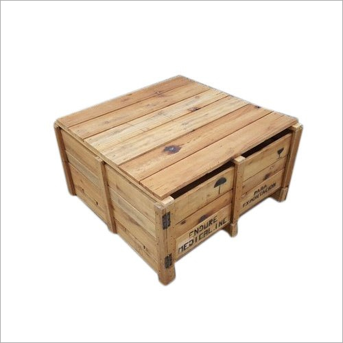 Vintage Closed Wooden Packing Crate