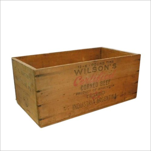 Vintage Wooden Packing Crate